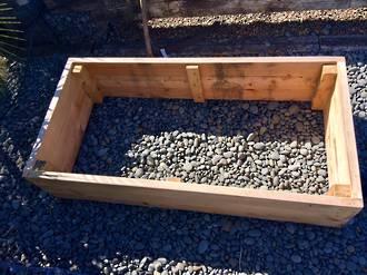 Macrocarpa Garden Box 2m x 1m x .45m