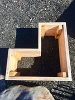 Macrocarpa Garden Box 1m x 1m x .45m