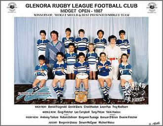Glenora Rugby League Midget Open 1987