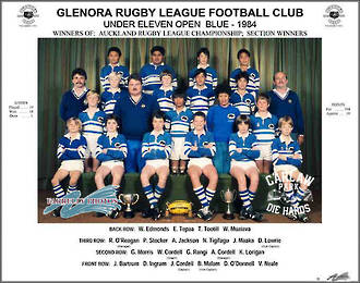 Glenora Rugby League U11 Open Blue 1984