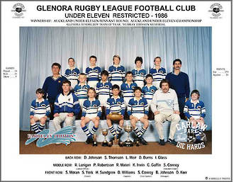 Glenora Rugby League U11 Restricted 1986