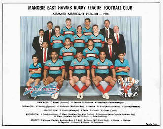 Mangere East Hawks Rugby League Premier Team 1988