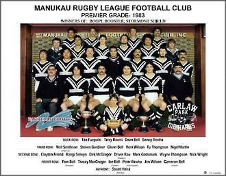 Manukau Rugby League Premiers Team 1983
