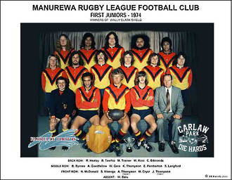 Manurewa Rugby League First Juniors Team 1974