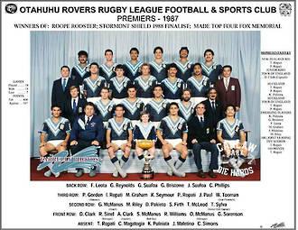 Otahuhu Rovers Rugby League Premiers 1987