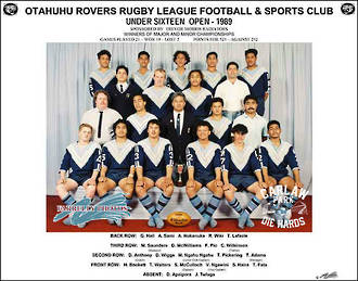 Otahuhu Rovers Rugby League U16 Open 1989