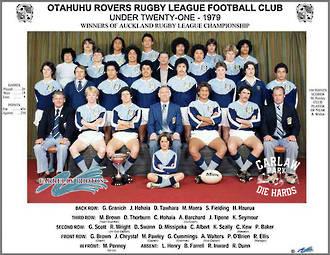 Otahuhu Rovers Rugby League U21 1979