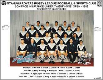 Otahuhu Rovers Rugby League U21 1988