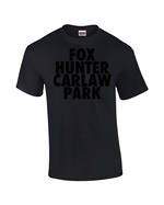 "Carlaw Park ""Fox Hunter"" Black on Black Tee"