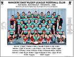 Mangere East Hawks Rugby League Premier Team 1989