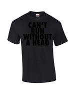 "Carlaw Park ""Can't Run Without A Head"" Black on Black Tee"