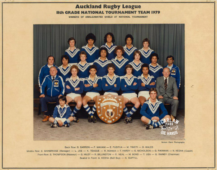 Auckland Rugby League 11th Grade Team 1979