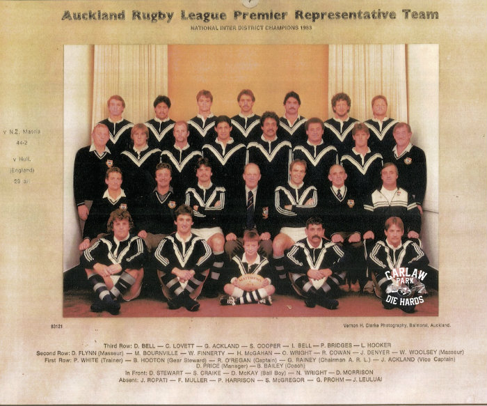 Auckland Rugby League Premier Team 1983