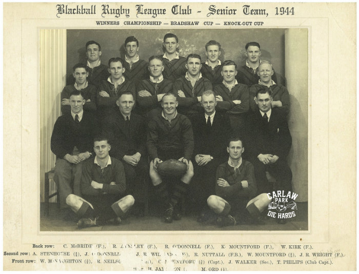 Blackball Rugby League Senior Team 1944