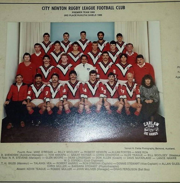 City Newton Rugby League Premier Team 1985