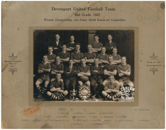 Devonport United 18Rugby League 2nd Grade Team 1927