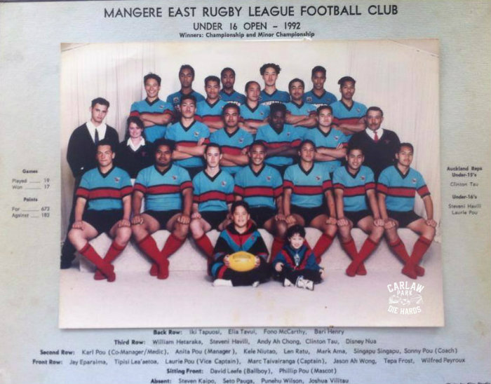 Mangere East Rugby League U16 Team 1992