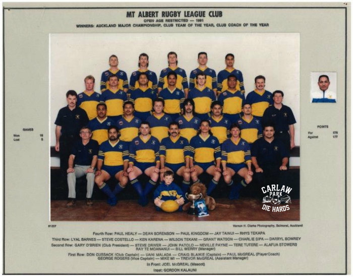 Mt Albert Rugby League O