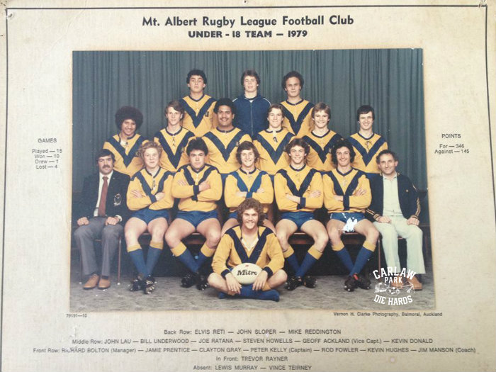 Mt Albert Rugby League U18 Team 1979
