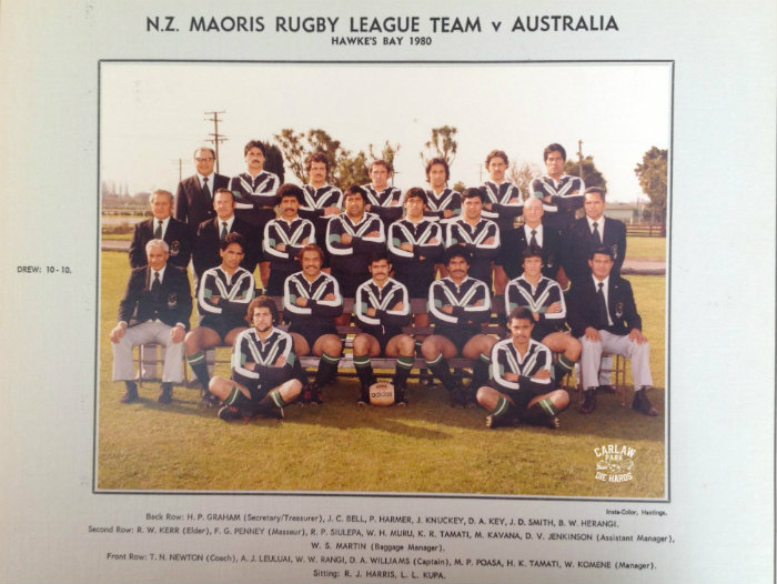 New Zealand Maoris Rugby League Team 1980