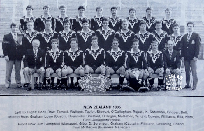New Zealand Rugby League Kiwis Team Tour GB 1985