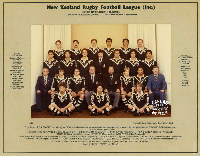 New Zealand Rugby League Kiwis U19 1982 Tour PNG