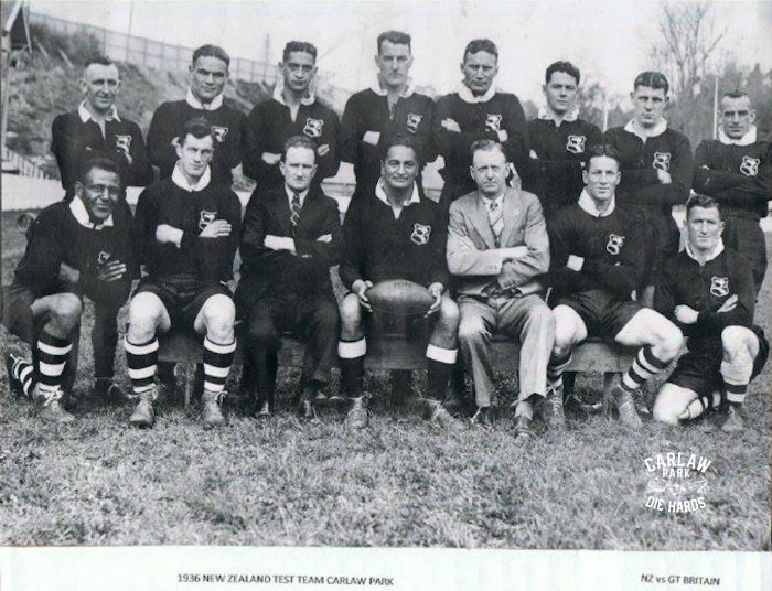 New Zealand Rugby League Test Team vs GB 1936