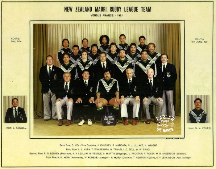 New Zeland Maori Rugby League Team vs France 1981