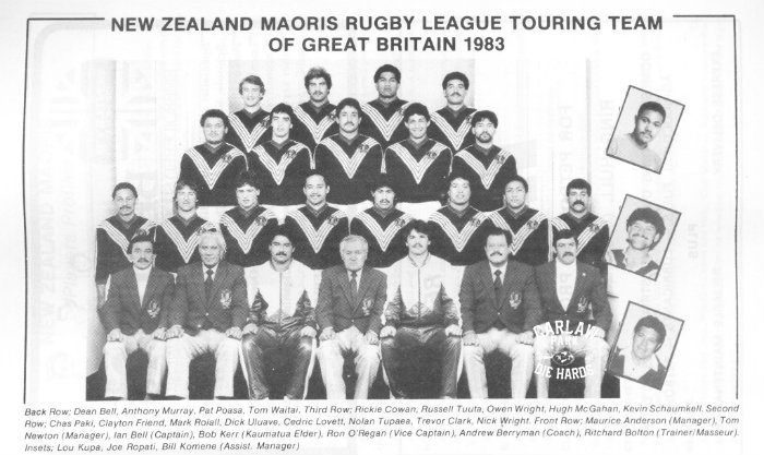 New Zeland Maoris Rugby League Team 1983 Tour Great Britain