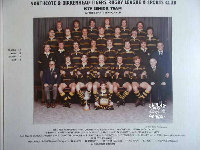 Northcote Rugby League Senior Team 1979