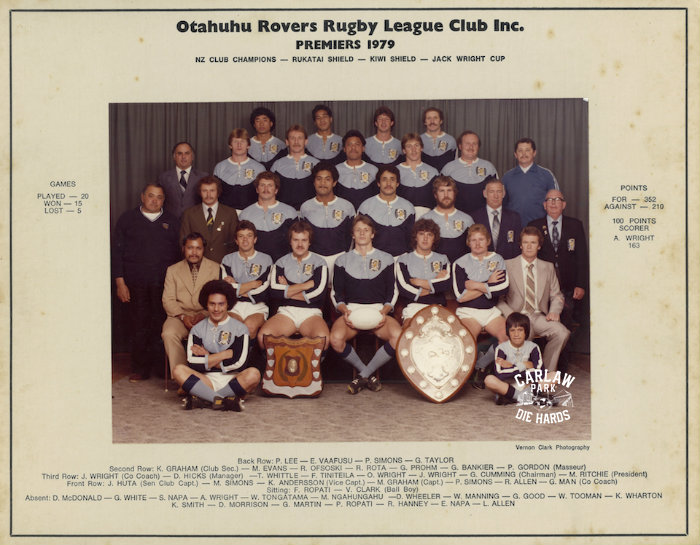 Otahuhu Rovers Rugby League Premiers Team 1979