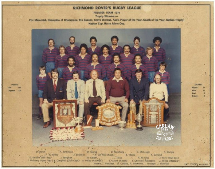 Richmond Rovers Rugby League Premier Team 1979