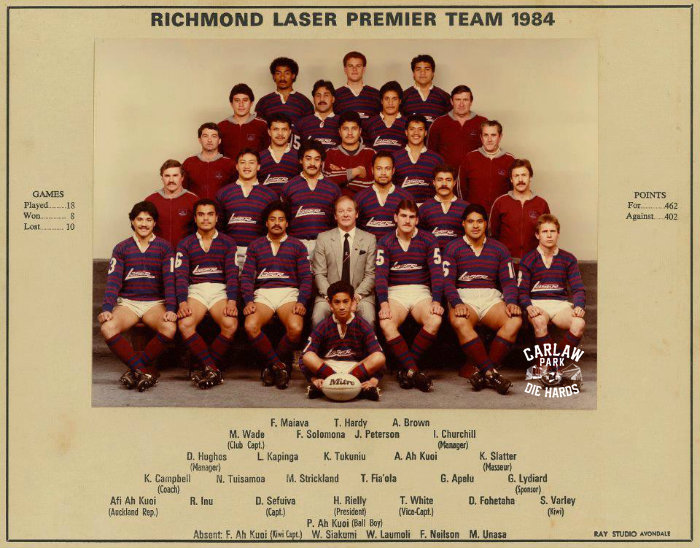 Richmond Rovers Rugby League Premier Team 1984