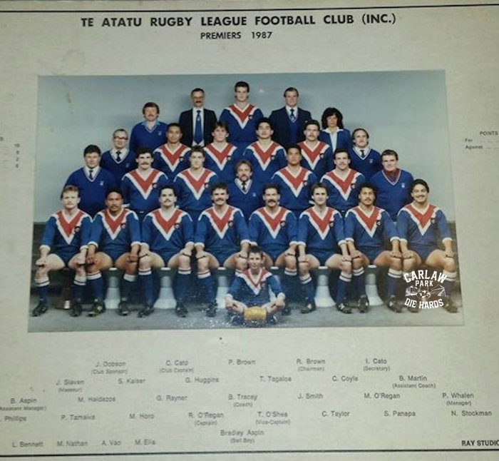 Te Atatu Rugby League Premiers Team 1987