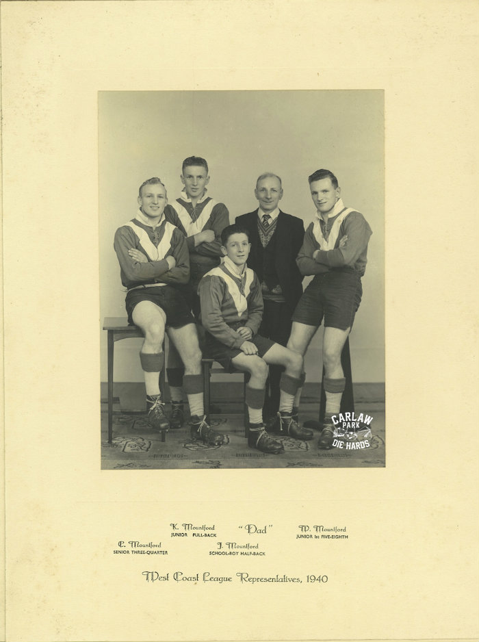 West Coast Rugby League Representatives 1940 quotMountford Familyquot