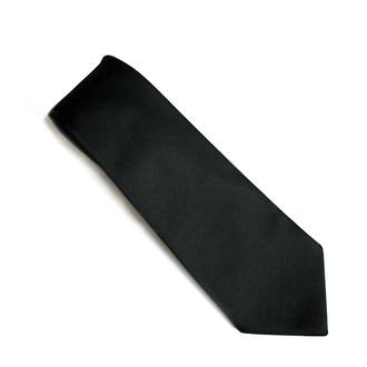 Black self pattern tie