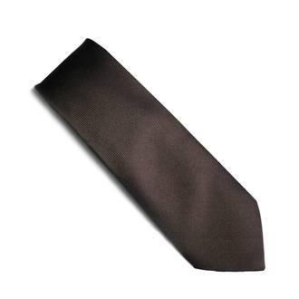 Brown self pattern tie