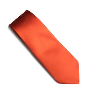 Orange self pattern tie
