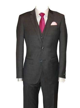 Charcoal Merino slim fit Suit