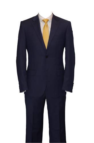 Blue self check slim fit Jacket