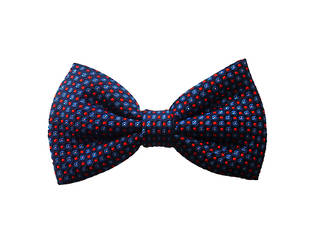 Blue with red & blue squares Pre-tied Bow