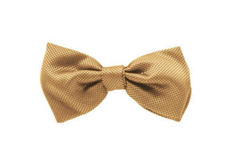 Beige Jacquard Pre-tied Bow