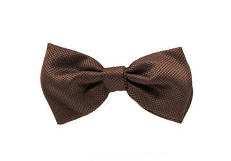 Brown Jacquard Pre-tied Bow