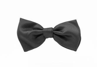 Charcoal Jacquard Pre-tied Bow