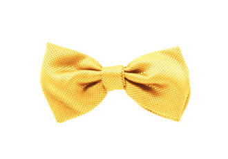 Gold Jacquard Pre-tied Bow