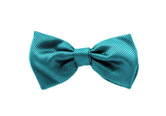 Teal Jacquard Pre-tied Bow