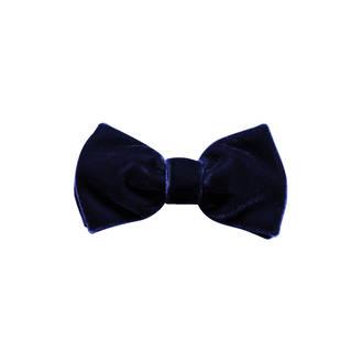 Navy Velvet Pre-tied Bow
