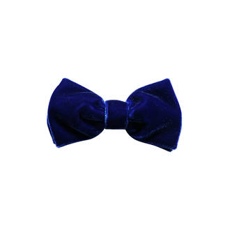 Royal Blue Velvet Pre-tied Bow