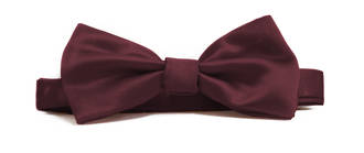 Burgundy Italian Satin Pre-tied bow