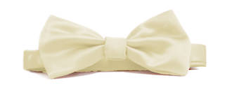 Cream Italian Satin Pre-tied bow